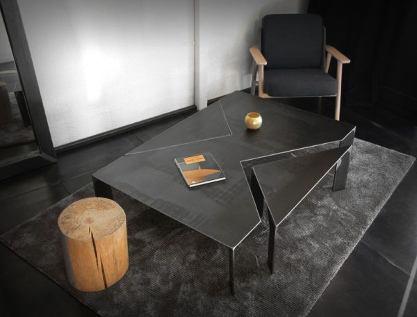STONE TABLE BASSE - BLUNT