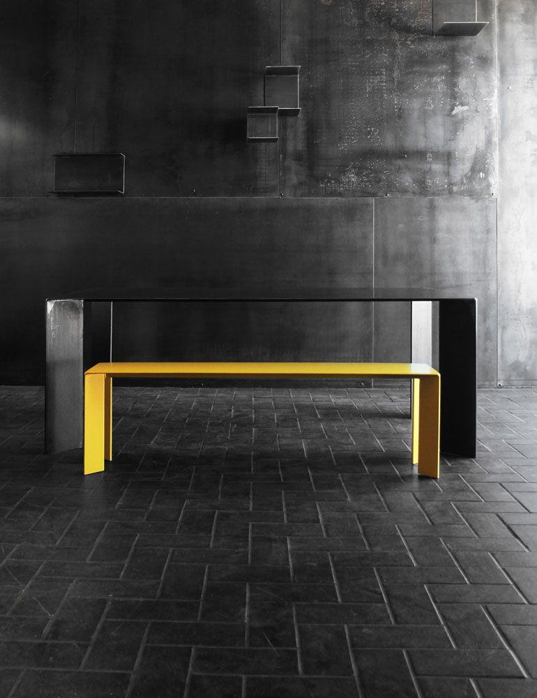 table acier design