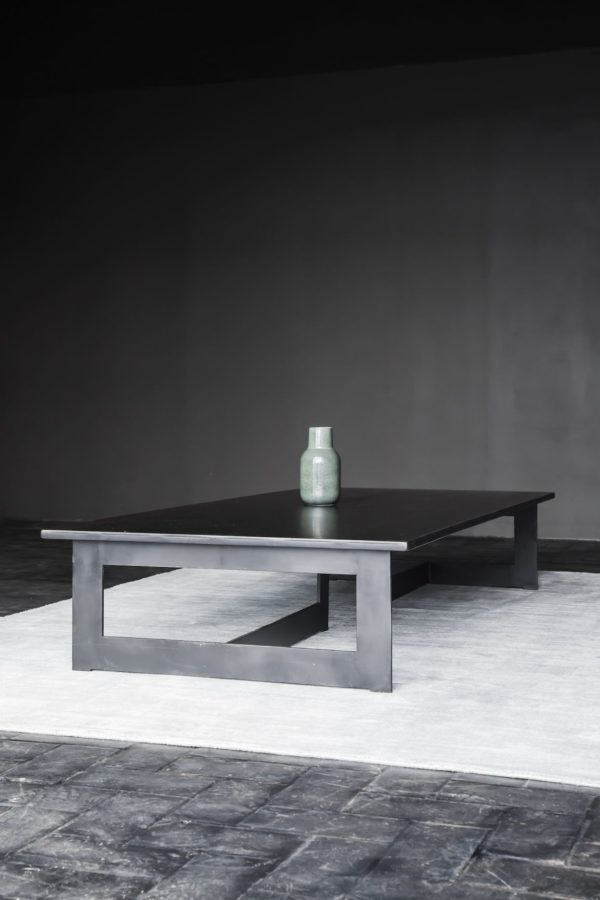 table basse acier BLUNT